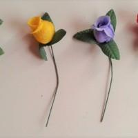 Bunga Plastik Seruni / Mawar Kuncup Satuan Bahan Flower Crown/Bross
