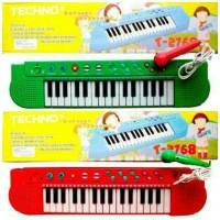 Mainan Edukatif / Edukasi Anak Tecno Piano Keyboard Mic Karaoke Musik