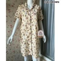 harga Piyama Baju Tidur Daster (owl Brown) Tokopedia.com