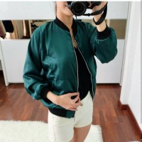 GREEN CLASSIC BOMBER JACKET