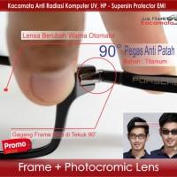 Jual Kacamata Minus + Lensa Photocromic | Frame Vintage Pria | Baca Korea Murah
