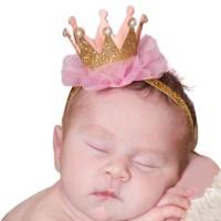 Jual bandana bayi / baby girl headband flower crown Murah