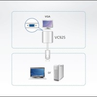 KVM Switches - Aten - DisplayPort to VGA Adapter VC925