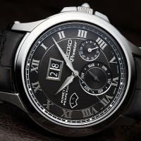jam tangan pria Seiko Premier Kinetik SNP041p2 ( fossil swiss army )