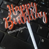 Cake Topper Happy Birthday HBD / Tusukan Hiasan Kue Acrylic