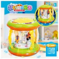Jual Mainan Bayi Wonderland Merry Go Round Music Drum Kecil Murah