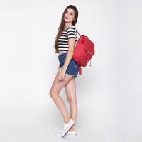 Jual Pulcher RITE Red +FREE POUCH - Backpack - Notebook - Tas Sekolah Murah