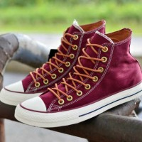 sepatu pria converse original premium high maroon tan 39-44