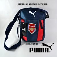 Tas Selempang / Slingbag Klub Bola Arsenal Navy / Merah