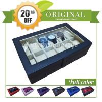 Jual Good Quality Watch Box / Kotak Jam Tangan Isi 12 Murah