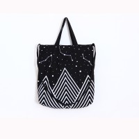 GK1102 Mountain space star shoulder bag (black)