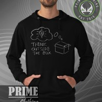 Hoodie Think Out Side The Box - Hitam