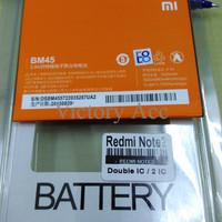 Jual Batre Batrei Baterai Battery Xiaomi Redmi Note 2 BM45 Original OEM Murah