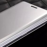 Jual Samsung Galaxy A3 2017/A320 Autolock Flip Cover/Case Clear View Mirror Murah