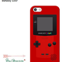 custom case / hardcase / softcase case iphone 5 5s SE Gameboy color