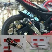 Knalpot racing AKRAPOVIC GP M1 for Cbr150/cb150/Xabre/R15/vixion dll