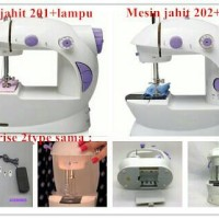 Jual mesin jahit portable 4in1 / mini sewing machine + lampu Murah