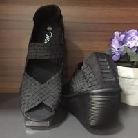 harga Sepatu Wanita / Wedges / Import Korea - Black Tokopedia.com