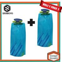 Promo!! Beli 1 Free 1 Botol Minum Lipat/ Kantong Air Minum Lipat 700