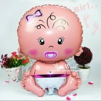 Balon Baby Girl 70cm / Balon Baby Shower / Balon foil