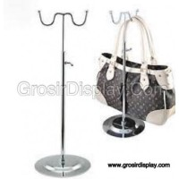 Gantungan Tas Stainless Display Hanger Toko Butik model W