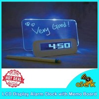 LCD Display Alarm Clock with Memo Board