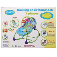 Pliko Rocking Chair Hammock Bouncer Biru Kursi Ayunan Bayi