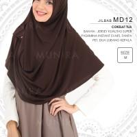 Hijab/Jilbab/Pashmina Instant Syari Munira MD 12 Coklat Tua Size M