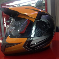 Best Helm KYT Enduro Motif Glossy Super moto Full Face Visor Cross Pal
