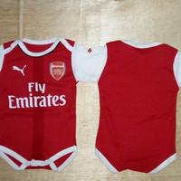 Harga baby romper bola baju bola bayi anak cowo arsenal home 16 | antitipu.com