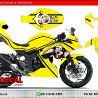 Decal Ninja RR MONO 250 Yellow Popeye FULLBODY SUDAH POLA CUTTING