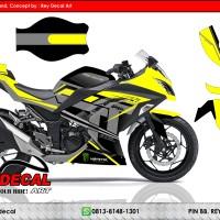 Decal Ninja 250 Fi Isle Of Man Yellow FULLBODY SUDAH POLA CUTTING