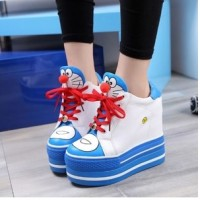 Jual SEPATU BOOT WANITA DORAEMON BIRU BEST SELLER | Sepatu Boots | Boots Murah