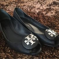 Sepatu TORY BURCH peep toe shoes wedges