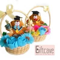 Felt Flower Basket