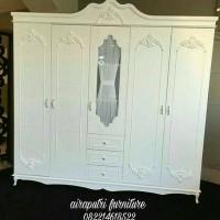 lemari pakaian duco white