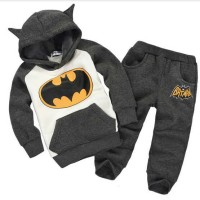 [batman kid dark grey VL] setelan anak babyterry abu tua