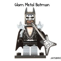 Lego Original Minifigure Batman Glam Metal Rock Rocker Movie Series