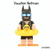 Lego Original Minifigure Batman Vacation Movie Series