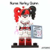 Lego Original Minifigure Harley Quinn Nurse Batman Movie Series