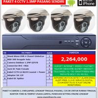 Paket 4 Kamera CCTV AHD 1.3Megapixel Lengkap Murah Camera HD Online 3G