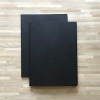 Black Paper Plain Notebook / Buku Catatan / Buku Tulis