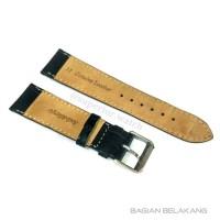 Strap Tali Kulit Anti-alergi 22mm Hitam Motif Watch Strap