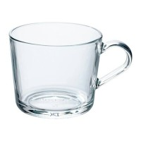 IKEA 365+ Mug / Cangkir / Gelas 24 cl - Kaca bening