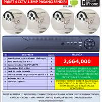 Paket 4 Camera CCTV AHD 1.3 MP Online Fastnet Kamera Outdoor Anti Air