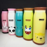 Jual Botol Termos Stainless Karakter Hewan Lucu / Cute Vacuum Flask Animal Murah
