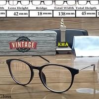 Frame kacamata minus VINTAGE kacamata minus frame korea vintage oval