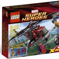 ready EXKLUSIF LEGO 6866 - Super Heroes - Wolverine's Chopper Showdown