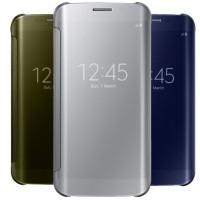 Jual Flip Cover/Case/Casing Samsung Galaxy S7/Edge Clear S View + Auto Lock Murah