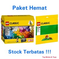 LEGO Classic, Creative Building Set & Green Baseplate
